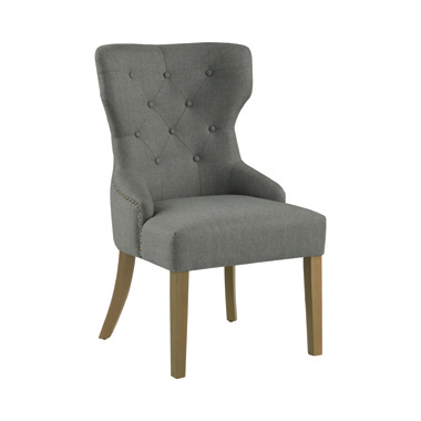 Florence Tufted Upholstered Dining Chair Grey