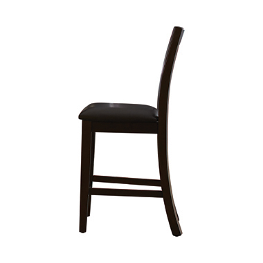 Holbrook Ladder Back Counter Height Stools Dark Brown and Antique Tobacco (Set of 2)