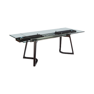 Annapolis Glass Top Dining Table Espresso