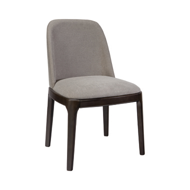 Annapolis Upholstered Dining Chairs Espresso and Grey (Set of 2)