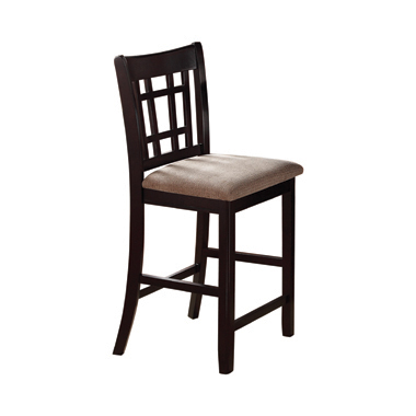 Lavon Lattice Back Counter Stools Tan and Espresso (Set of 2)