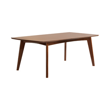 Malone Rectangular Dining Table Dark Walnut