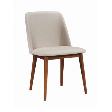 Malone Upholstered Dining Chairs Tan and Chestnut (Set of 2)