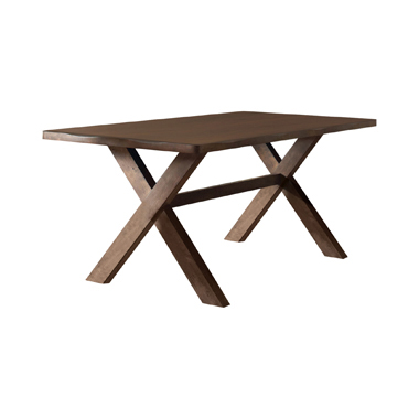 Alston X-shaped Dining Table Knotty Nutmeg