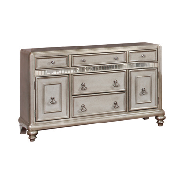 Danette 5-drawer Dining Server Metallic Platinum