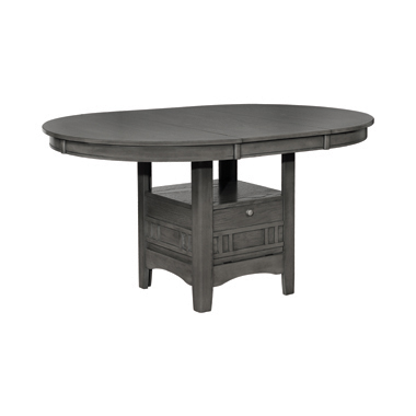 Lavon Dining Table with Storage Medium Grey