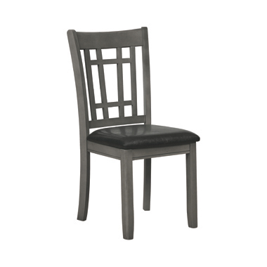 Lavon Padded Dining Side Chairs Espresso and Medium Grey (Set of 2)