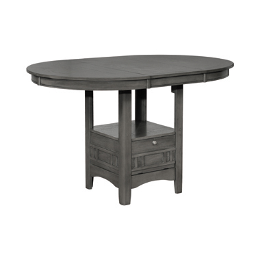 Lavon Oval Counter Height Table Medium Grey