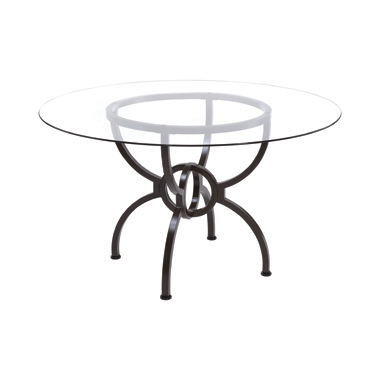 Aviano Dining Table Base Gunmetal