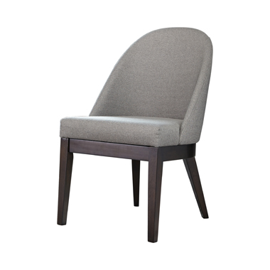 Benton Curved Back Dining Chairs Americano and Light Grey (Set of 2)