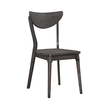 Eureka Open Back Side Chairs Dark Grey (Set of 2)