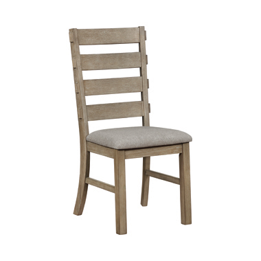 Gadsden Ladder Back Dining Chairs Sand and Vineyard Oak (Set of 2)