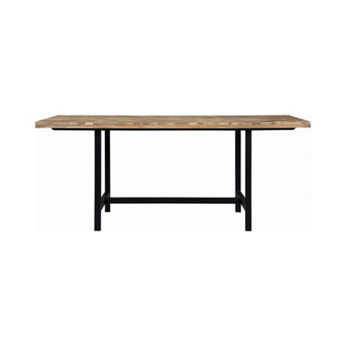 Springdale Dining Table with Chevron Pattern Driftwood