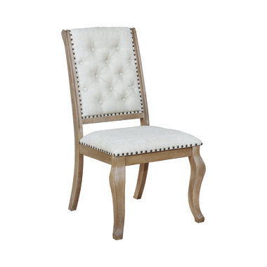 Brockway Cove Tufted Side Chairs Cream and Barley Brown (Set of 2)