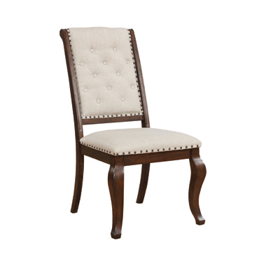 Brockway Cove Tufted Dining Chairs Cream and Antique Java (Set of 2)