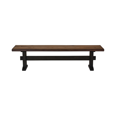 Bexley Trestle Bench Natural Honey and Espresso