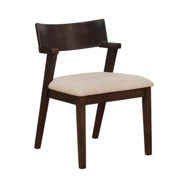 Jarmen Upholstered Dining Chairs Light Brown (Set of 2)