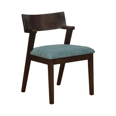 Jarmen Upholstered Dining Chairs Teal (Set of 2)