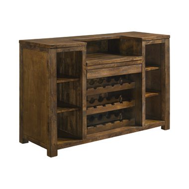 1-drawer Bar Unit Rustic Oak