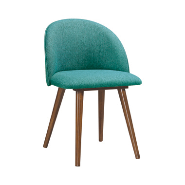 Upholstered Dining Chairs Teal (Set of 2)