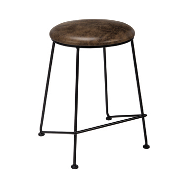 Counter Height Stool Saddle and Dark Gunmetal