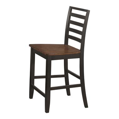 Sanford Ladder Back Counter Height Stools Cinnamon and Espresso (Set of 2)