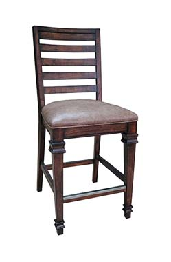 Delphine Ladder Back Counter Height Chairs Brown (Set of 2)