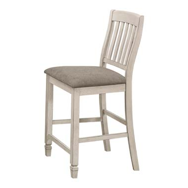 Sarasota Slat Back Counter Height Chairs Grey and Rustic Cream (Set of 2)