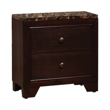 Conner 2-drawer Rectangular Nightstand Cappuccino