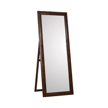 Rectangular Standing Floor Mirror Warm Brown