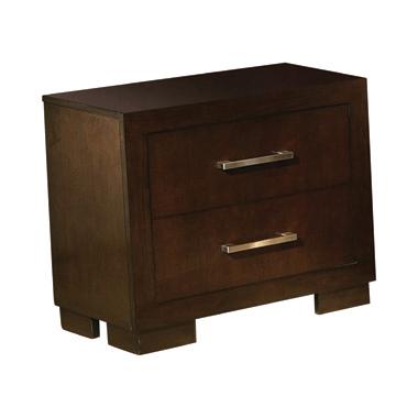 Jessica 2-drawer Nightstand Cappuccino