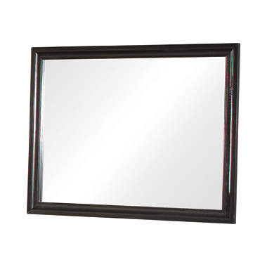 Barzini Rectangular Mirror Black