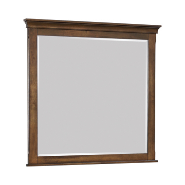 Franco Rectangular Mirror Burnished Oak