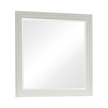 Sandy Beach Rectangular Mirror White