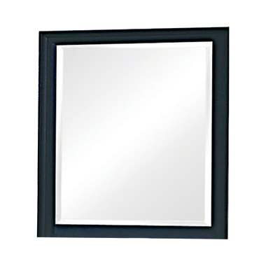 Sandy Beach Vertical Dresser Mirror Black