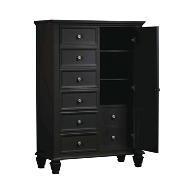 Sandy Beach Man's Chest with Concealed Storage Black