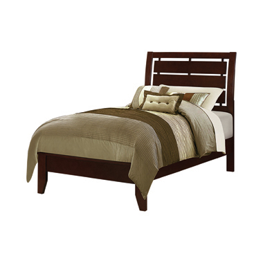 Serinity Twin Panel Bed with Cut-out Headboard Rich Merlot