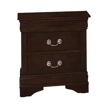 Louis Philippe 2-drawer Nightstand Cappuccino