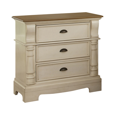 Oleta 3-drawer Nightstand Buttermilk and Brown