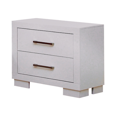 Jessica 2-drawer Nightstand White