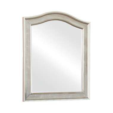 Arched Top Vanity Mirror Metallic Platinum
