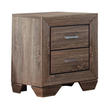Kauffman 2-drawer Nightstand Washed Taupe