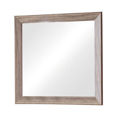 Kauffman Rectangular Mirror Washed Taupe