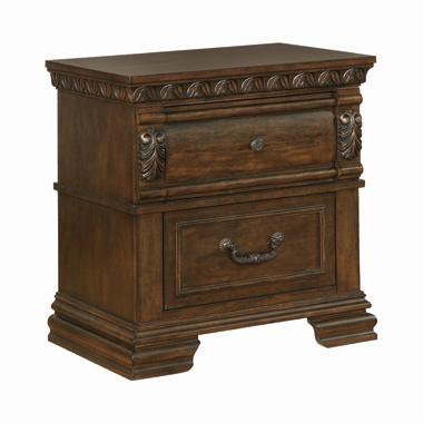 Satterfield 2-drawer Nightstand Warm Bourbon