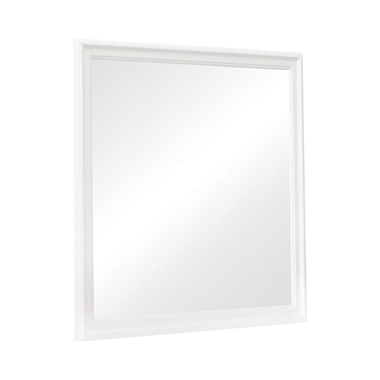Louis Philippe Beveled Edge Square Mirror White