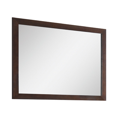 Madison Rectangular Mirror Dark Merlot