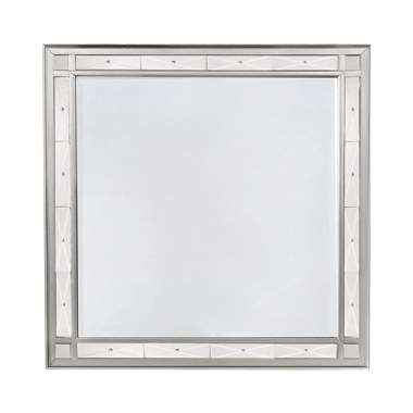 Leighton Beveled Mirror Metallic Mercury