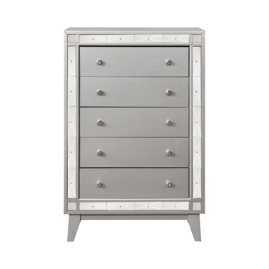 Leighton 5-drawer Chest Metallic Mercury