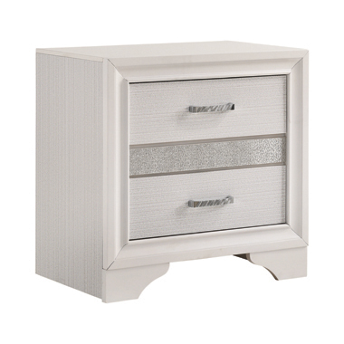 Miranda 2-drawer Nightstand Tray White