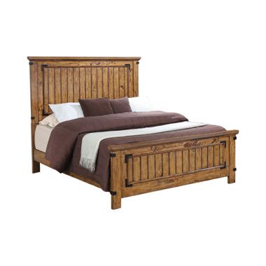 Brenner California King Panel Bed Rustic Honey